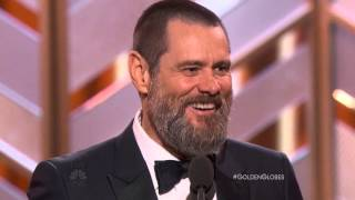 Download Jim Carrey Speech At The Golden Globe Awards 2016. HDTV Video