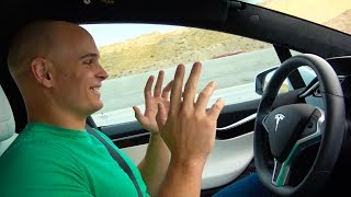 Download Tech YouTuber tries Tesla Autopilot for the first time! Video