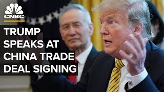 Download President Trump speaks at the China phase one trade deal signing – 1/15/2020 Video