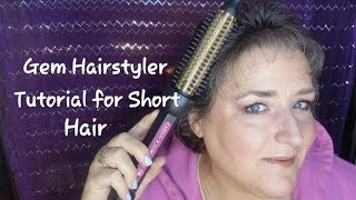 Download How to Use a Curling Brush for Short Hair | Gem Hairstyler Video