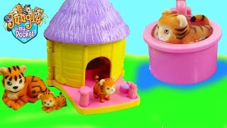 Download Mom & Baby Tigers Bath Water Play Playset Hut House Jungle In My Pocket Cookieswirlc Unboxing Video