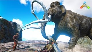 Download HikePlays ARK Survival - Taming BIG DINOs!! MAMMOTH!! - Dino Hunter! w/ Stream Team! Video