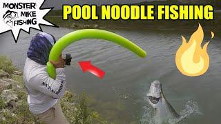 Download DIY POOL NOODLE Fishing Rod Challenge | Monster Mike Video