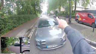 Download Mercedes road rage driver nudges Mikey, then gets instant carma from the police Video