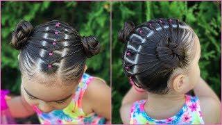 Download Peinado facil y rapido para niñas con ligas y coletas| peinados faciles y rapidos| LPH Video