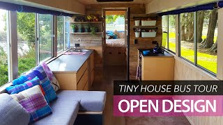 Download School bus conversion small home | tour | Off-grid family tiny house Video