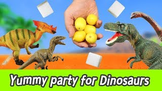 Download [EN] Yummy party for Dinosaurs! learn taste in english, kids education, collectaㅣCoCosToy Video