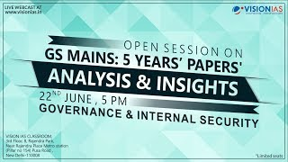 Download GS Mains: 5 Years' Papers | Analysis & Insights | Governance & Internal Security Video