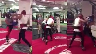Download (SAVAGERY) MCGREGOR SPARRING OPPONENT LIGHTS HIM UP WITH COMBOS: ″I AIN'T FLOYD AND I LANDED″ Video