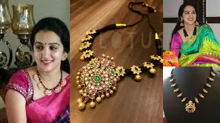 Download Black thread gold necklace designs new collection Video