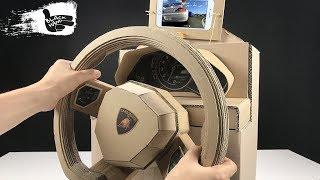 Download How to Make lamborghini Gaming Steering Wheel from Cardboard Video