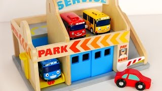 Download Parking Garage Services Playset for Kids!!! Tayo Bus and Car Toys for Children Video