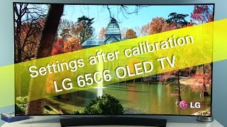 Download LG 65C6 C6 UHD OLED TV settings after calibration Video