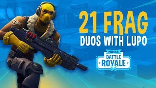 Download 21 Frag Duos with Lupo! - Fortnite Battle Royale Gameplay - Ninja Video