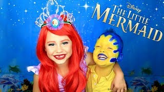 Download The Little Mermaid Ariel and Flounder Makeup and Costumes Video
