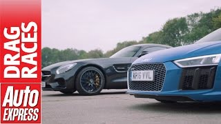 Download Mercedes-AMG GT S vs Audi R8 V10 drag race: German supercars face off! Video