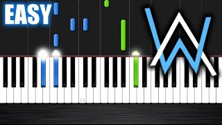 Download Alan Walker - Faded - EASY Piano Tutorial by PlutaX Video
