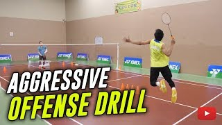 Download Badminton Aggressive Offense Drill - Coach Kowi Chandra Video
