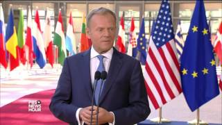 Download At NATO, Trump calls out allies on unpaid dues while staying mum on joint defense pact Video
