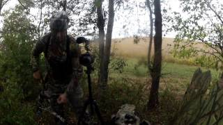 Download Don't Text and Hunt! Deer sneaks up behind hunter at 6 yards! Video