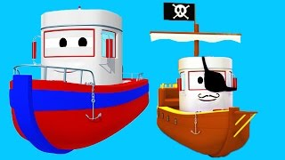 Download Bobby The Boat with his friends in Car City: Tom The Tow Truck, Troy The Train and Penny The Plane ! Video