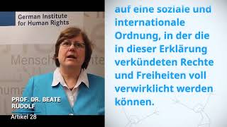 Download Prof Dr Beate Rudolf, Germany, reading article 28 of the Universal Declaration of Human Rights Video