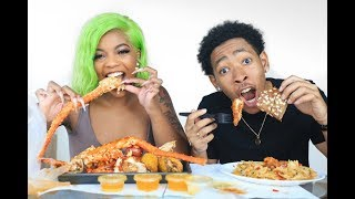 Download OUR FIRST MUKBANG   SEAFOOD BOIL Video