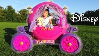Download Dynacraft 24v Disney Princess Carriage Ride-on Powerwheels with Cinderella and Rapunzel Doll Video