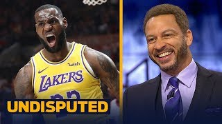 Download Chris Broussard gives LeBron a C+ grade for his Lakers regular season debut | NBA | UNDISPUTED Video