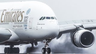 Download SMOOTHEST AIRBUS 380 LANDING ever !! Emirates A380 mix Video
