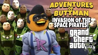 Download Adventures of Buttman #10: Invasion of the Space Pirates! (Annoying Orange GTA V) Video