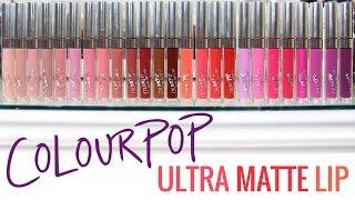 Download ColourPop Ultra Matte Lip Swatches Video