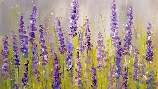 Download Easy Lavender Painting with Cotton Swabs | Acrylic Tutorial Step by Step for Beginners Video