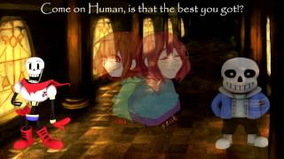 Download [Undertale] - Stronger Than You - Papyrus & CalebHyles Sans VS Chara & Frisk Video