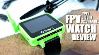 Download GTENG T909 FPV Watch Review - [UnBox, Inspection, Setup] 5.8ghz, 32 Channels Video