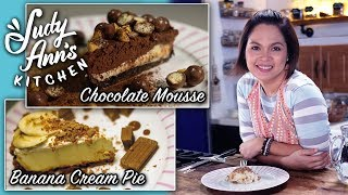 Download [Judy Ann's Kitchen 11] Ep 2 : Banana Cream Pie and Chocolate Mousse   Easy Desserts Video