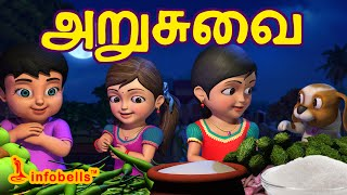 Download அறுசுவை | Tamil Rhymes for Children | Learn Tastes | Infobells Video