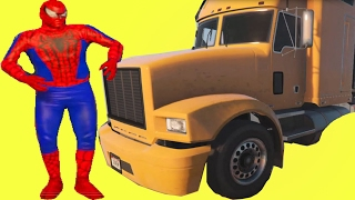 Download Spiderman VS Truck Trailer - Nursery Rhymes Song English For Children Video