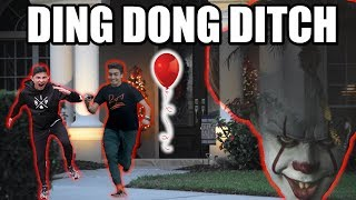 Download DING DONG DITCH WITH RED BALLOON ON HOUSES!! (you won't believe what happened) Video