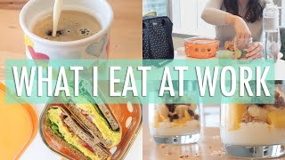Download What I Eat In a Day at Work | EASY & Healthy Meals Video