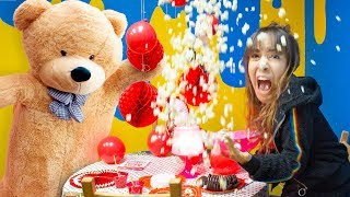 Download We accidentally ruined our Sister's Date! (Huge Teddy Bear Prank scared away her secret crush!) Video