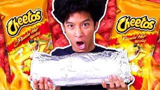 Download GIANT MEGA HOT CHEETOS BURRITO!!! Video
