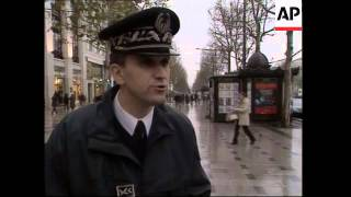 Download Extra police patrol streets of Paris to protect against terrorism Video
