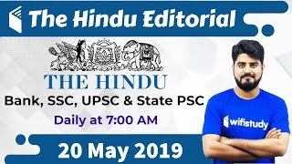 Download 7:00 AM - The Hindu Editorial Analysis by Vishal Sir | 20 May 2019 | Bank, SSC, UPSC & State PSC Video