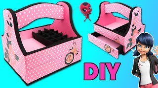 Download Marinette makeup Organizer with cardboard Miraculous Ladybug Crafts Video