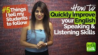 Download How to quickly improve your English speaking & listening Skills - 5 things my Students do daily. Video