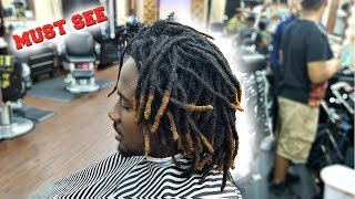 Download MUST SEE | TRANSFORMATION | BARBER TUTORIAL CUTTING DREADLOCKS OFF Video
