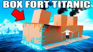 Download BOX FORT TITANIC!! 📦🚢 FLOATING BOX FORT CHALLENGE Video