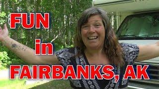 Download Alaska Road Trip: Fun in Fairbanks Alaska: Pioneer Park, Downtown, Hikes and More! Video