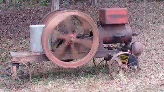 Download Galloway 5 hp hit miss engine first start in 50 years Running Video